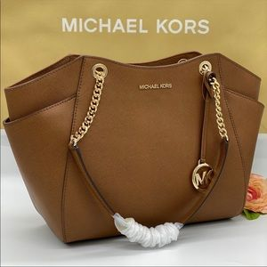 MICHAEL KORS LG CHAIN SHOULDER TOTE LUGGAGE